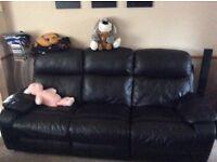 3 piece leather suite