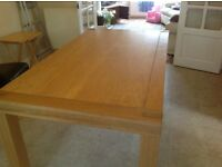Dining Table in Light Oak