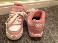 Girls Pink Sparkly Heelys Size 13