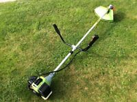 Long reach petrol 2stroke grass strimmer. Steel head 9000min rotary. Handles for easy use.