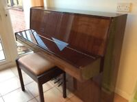 Piano and music stool