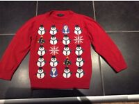 Next Boys Christmas Jumper age 3-4