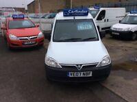 very clean vauxhall combo 1.3 diesel van low milage only £1995 no vat