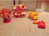 Lalaloopsy carnival wheel house bus and a remote control car