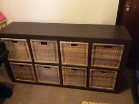 IKEA large storage with wicker baskets mint condition