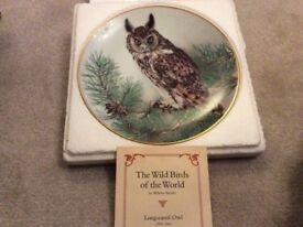 Franklin Wild Birds of the World Long-Eared Owl
