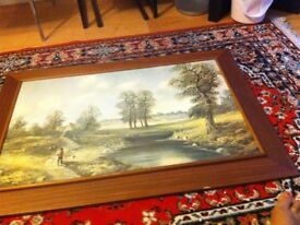 Oil painted photograph for living room. Theme:- Returning home. Price £ 25.00.