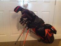 Full set of left handed golf clubs