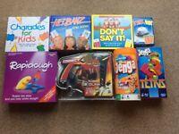 Brilliant bundle kids games, Charades, Rapidough, Hedbanz, Jenga x 2, Connect 4, Don't Say it......