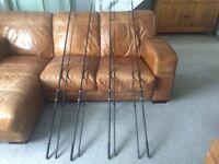 3 chub OutKast carp fishing rods and 1 marker rod