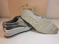 Authentic Women's Prada Leather Platform Sneakers Shoes used In Very Good Condition !!!