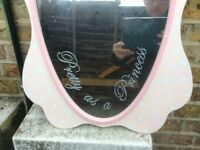 Princess mirror as seen pink check photo Gatwick