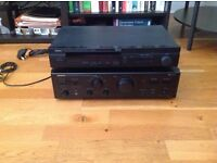 ONKYO A-803 Stereo Integrated Amplifier and Yamaha TX-590RDS Digital Tuner
