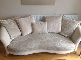Cream DFS 3 seater sofa