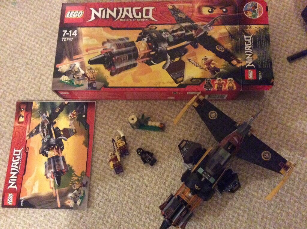 Lego Ninjago 70747 Boulder Blaster with box instructions minifigures