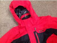 Child's Ski Jacket - red/black, suitable for 8-10 years, EXCELLENT CONDITION
