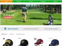Golf Equipment, Clothes & Accessories Dropshipping Business For Sale