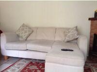 DFS 3 Seater Sofa Cream