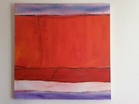 "Original abstract painting on canvas - ""Hot Sand"" by Roo Sangster-Bullers"