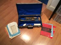 Trumpet with case, vgc