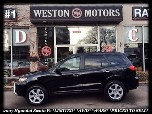 2007 Hyundai Santa Fe 7Pass*LIMITED*AWD*LEATHER*SUNROOF*PRICED T