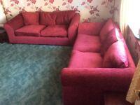 Sofas, two three seater sofas 3 months old