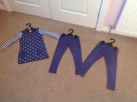 M&S Dress with 2 pairs of matching leggings - Age 2-3 (£4)