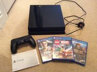 Sony PS4 Playstation 4 500GB with controller and games