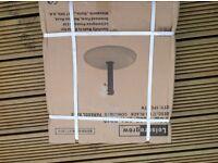 Black concrete parasol base 12kg - Leisuregrow - New