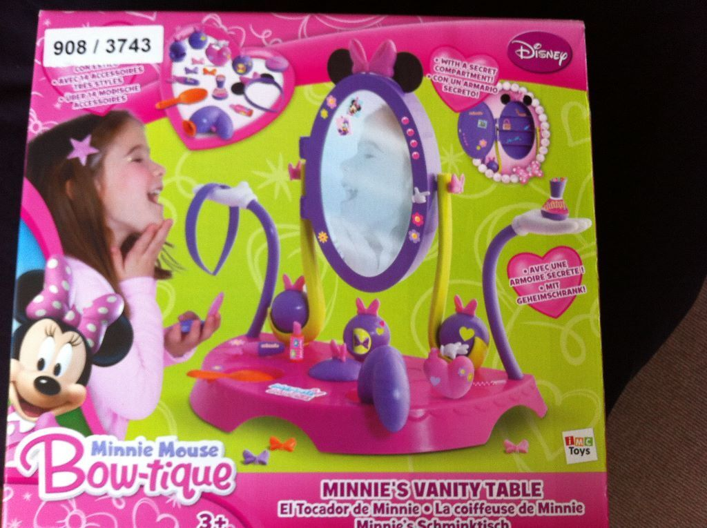 Minnie Mouse Bow Tique Vanity Set Brand New In Sheffield South
