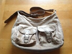 Storksak leather changing bag / nappy bag / baby bag