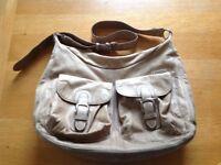 Storksak leather changing bag / nappy bag / baby bag