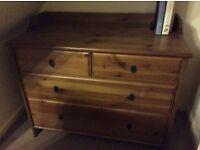 Ikea dark pine storage dresser