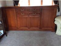 Selva distressed cherry wood large sideboard