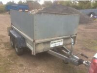 Indespension 8x5 trailer with extended sides