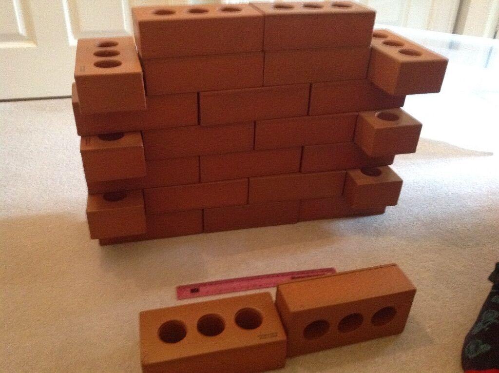 FANTASTIC HUGE PILE OF real life foam bricks. Great for budding ...