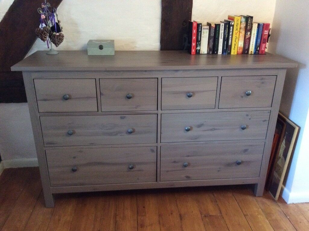 Large Chest Of Drawers Solid Pine Ikea Hemnes Range