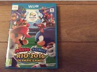 Wii U game mario & sonic & the Rio 2016 olympic games