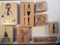 Crafting rubber stamps