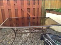Large Glass Patio Table