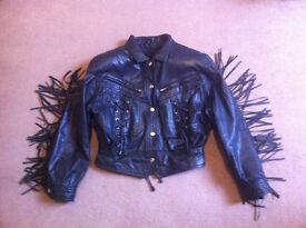 Real goat leather jacket