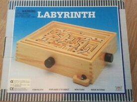 Brand new wooden labyrinth game for age 5-adult