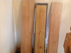Job lot of laminate flooring sections - different
