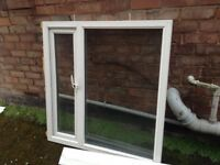 White double glazed upvc window
