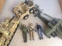H.M Forces Action Men and Vehicles
