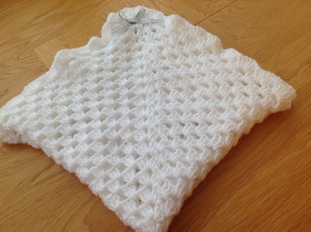 New hand crotchet Moses basket blanket.