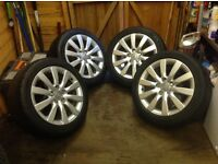 """🚗😀 4x17"""" Audi alloys and 2 new tyres 😀🚗"""