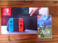 Nintendo Switch Neon and Zelda