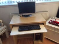 Light wood and white desk as new