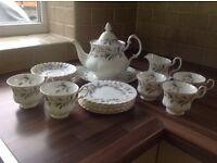 Royal Albert Brigadoon fine bone china tea set